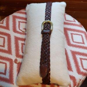 Vintage Coach woven leather belt